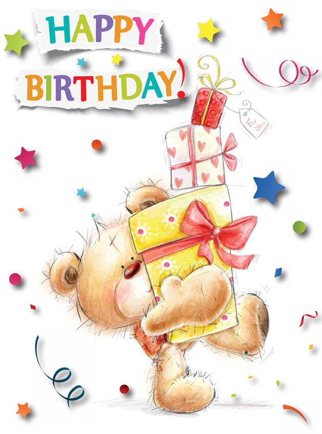 Giant Birthday Card Cute Bear Artom Graphics