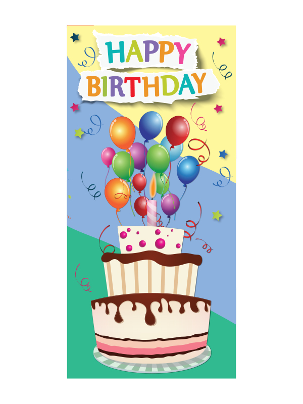 Big Birthday Cake Birthday Card Artom Graphics