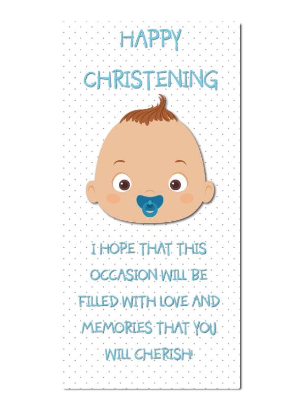 42380c96e42 Christening Baby Boy Special Memories Greeting card  R2224 - Artom ...